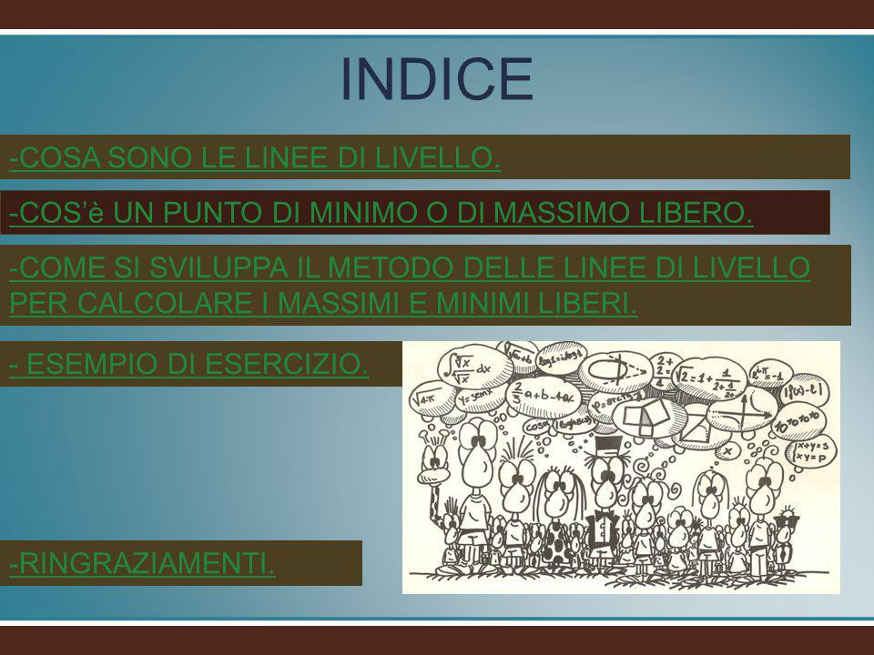 INDICE -COSA SONO LE LINEE DI LIVELLO.
