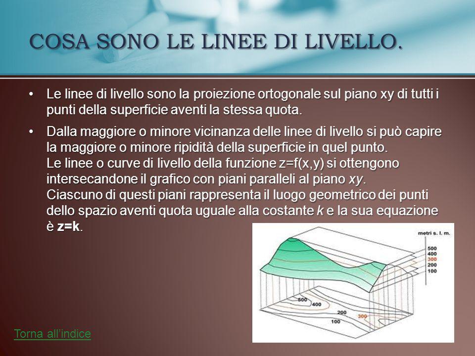 COSA SONO LE LINEE DI LIVELLO.