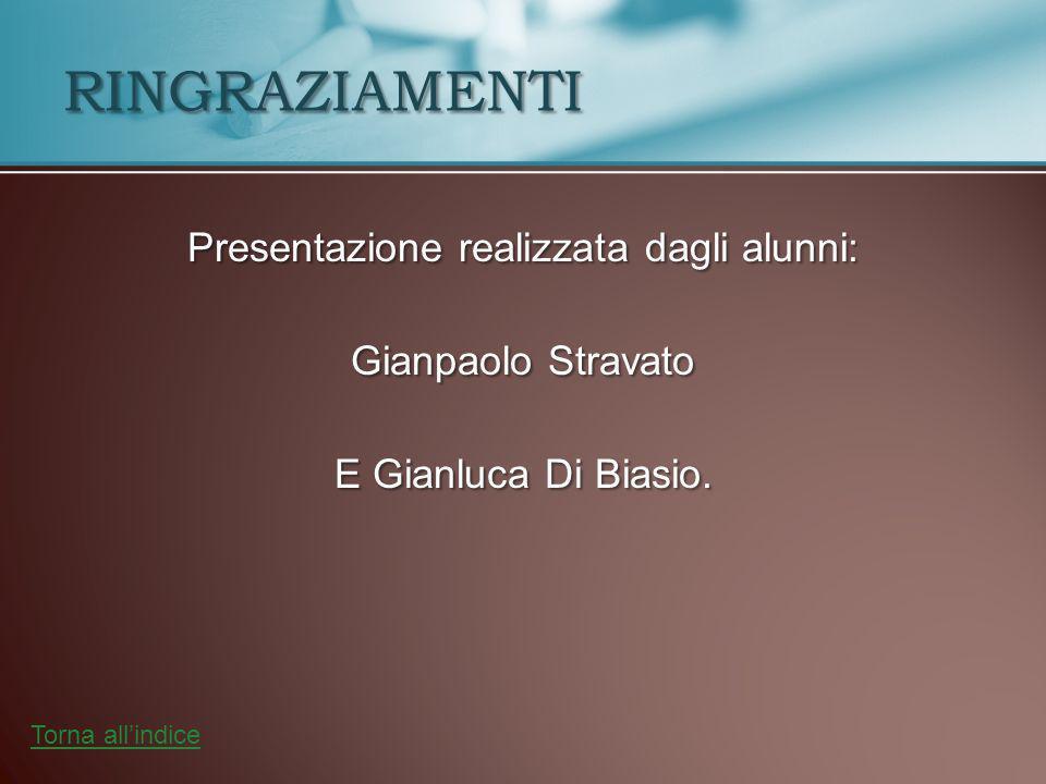 RINGRAZIAMENTI Presentazione realizzata dagli alunni: Gianpaolo Stravato E Gianluca Di Biasio.