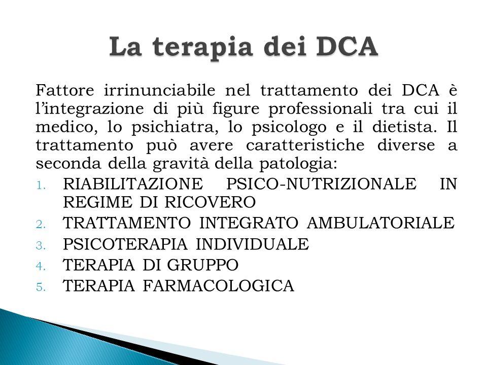 La terapia dei DCA