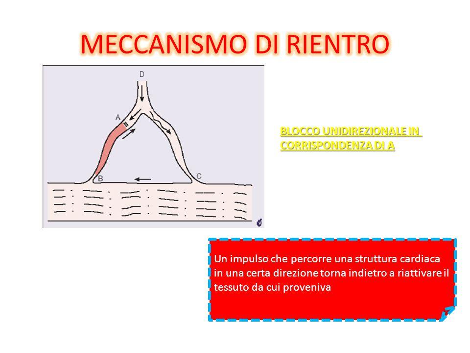 MECCANISMO DI RIENTRO BLOCCO UNIDIREZIONALE IN CORRISPONDENZA DI A