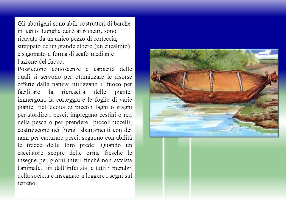 Gli aborigeni sono abili costruttori di barche in legno