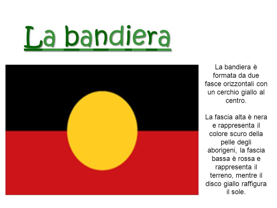 La bandiera La bandiera è formata da due fasce orizzontali con un cerchio giallo al centro.
