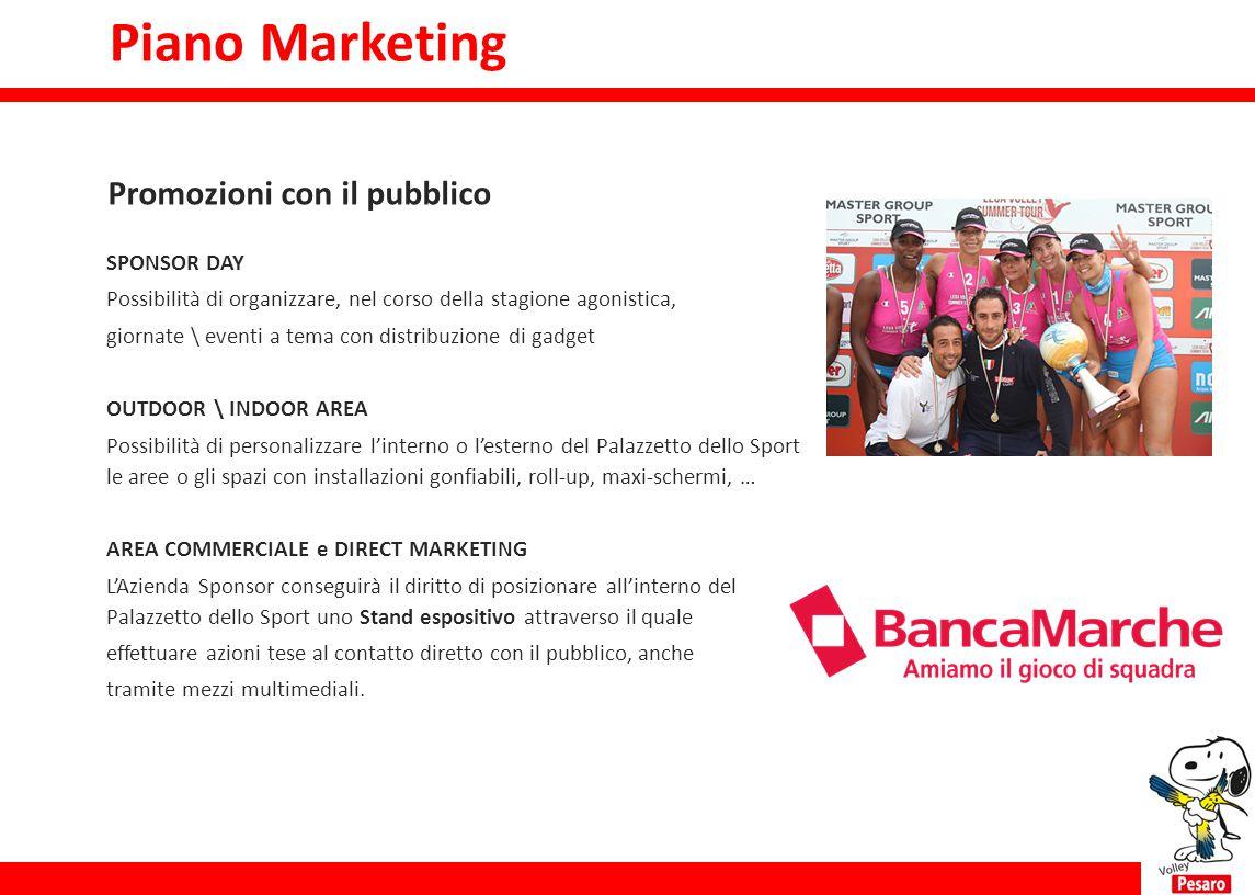Piano Marketing Promozioni con il pubblico SPONSOR DAY