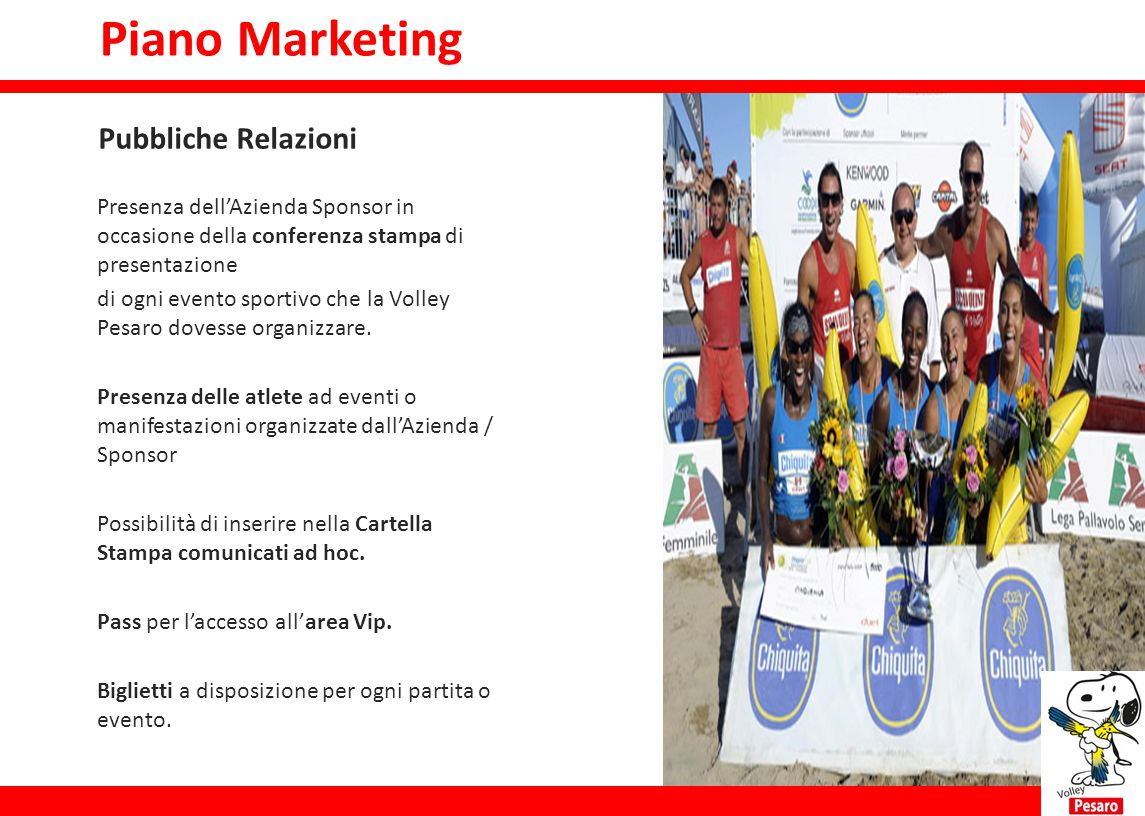 Piano Marketing Piano marketing Pubbliche Relazioni