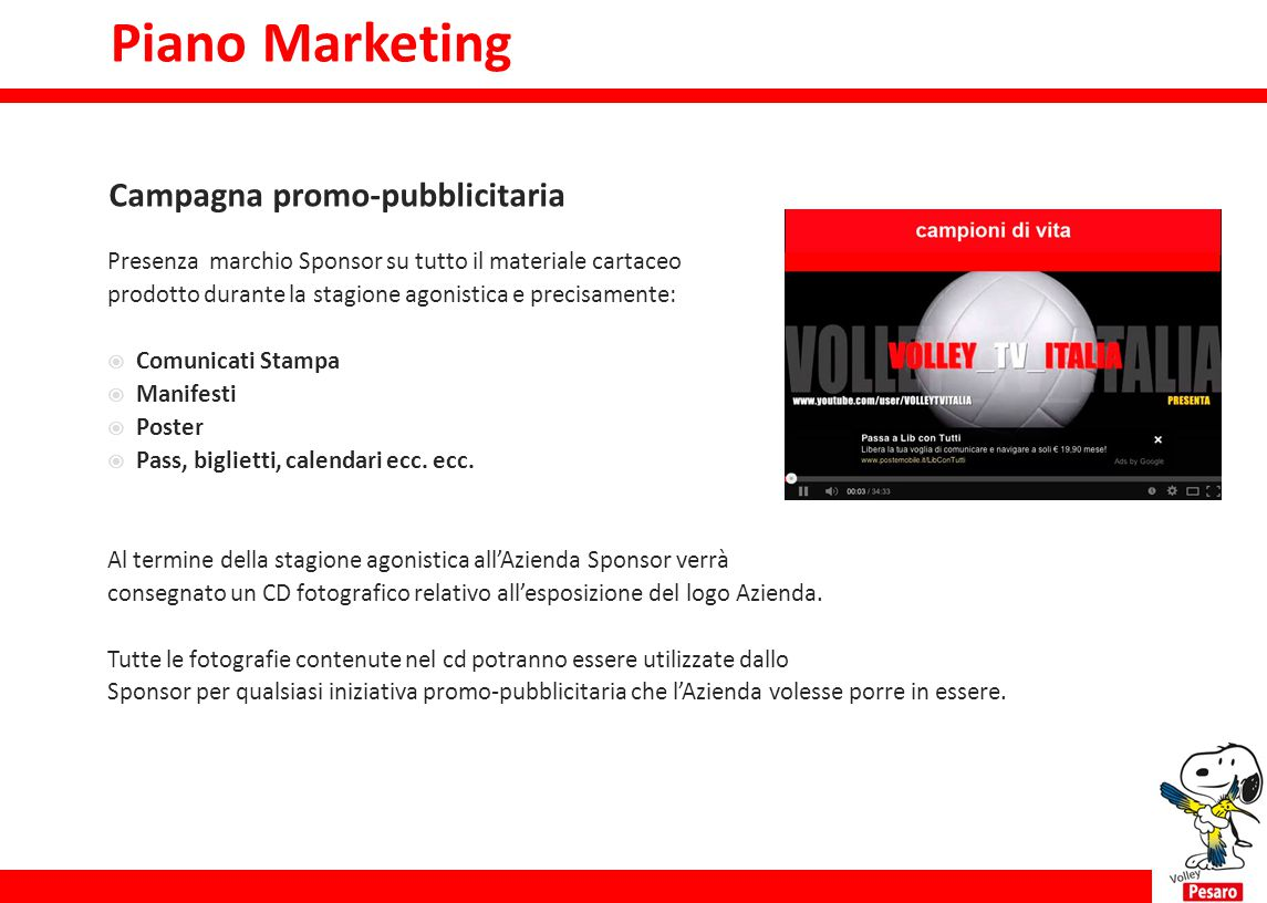 Piano Marketing Campagna promo-pubblicitaria