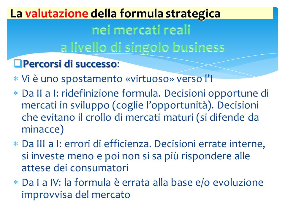 a livello di singolo business