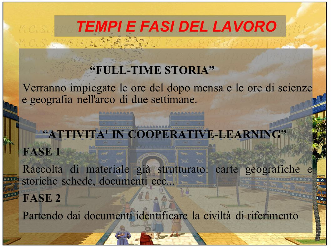 TEMPI E FASI DEL LAVORO FULL-TIME STORIA