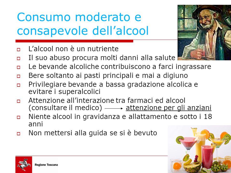 Consumo moderato e consapevole dell'alcool