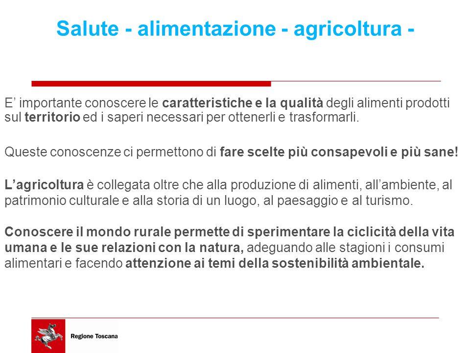 Salute - alimentazione - agricoltura -