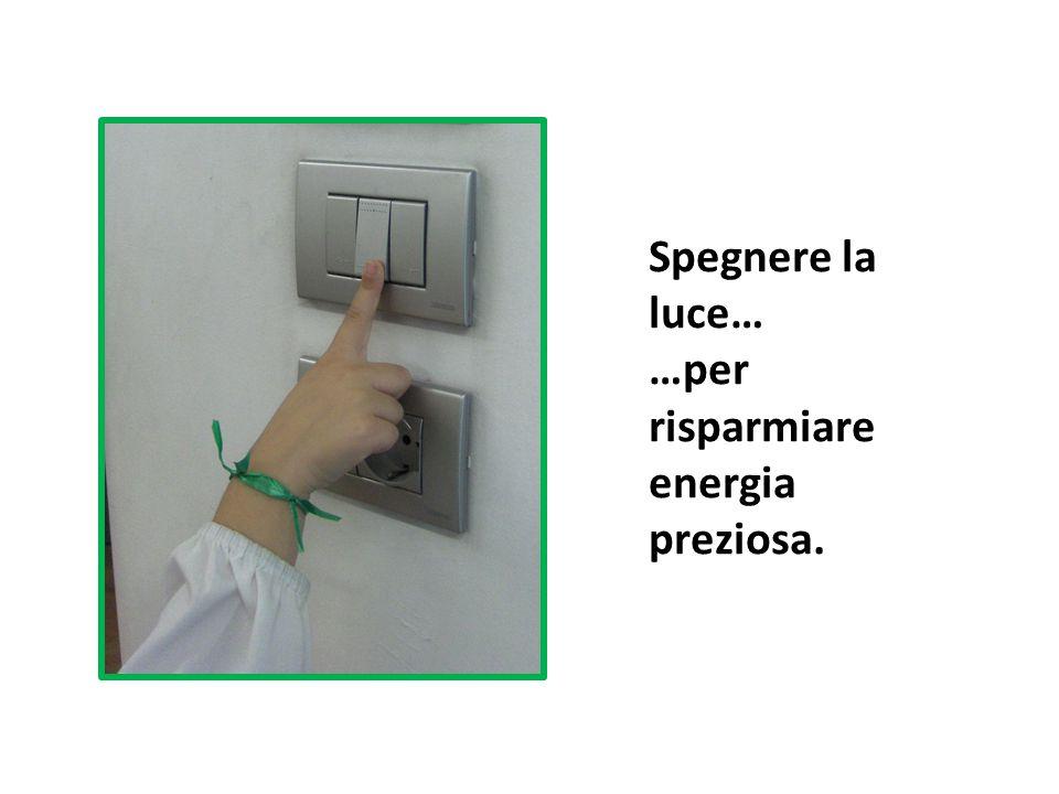 Spegnere la luce… …per risparmiare energia preziosa.