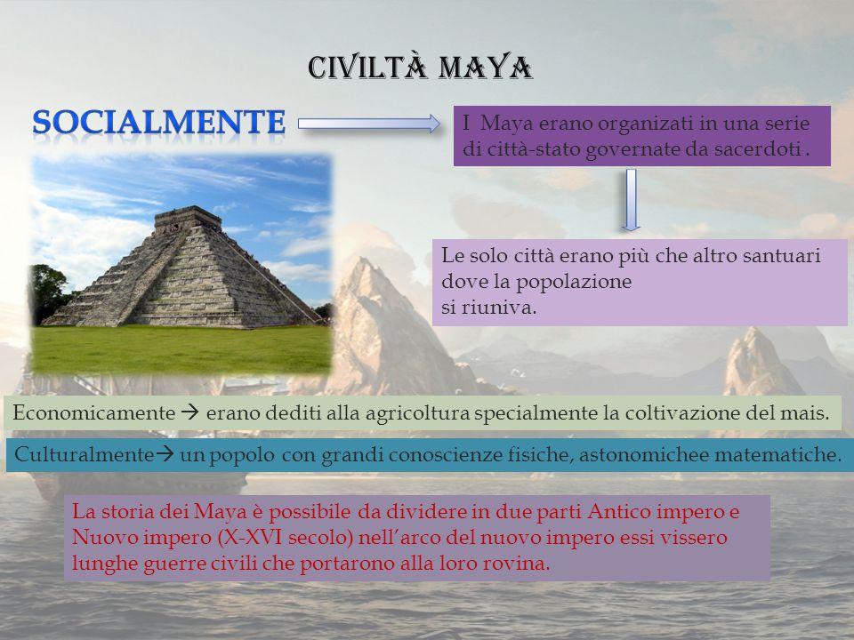 Civiltà Maya Socialmente