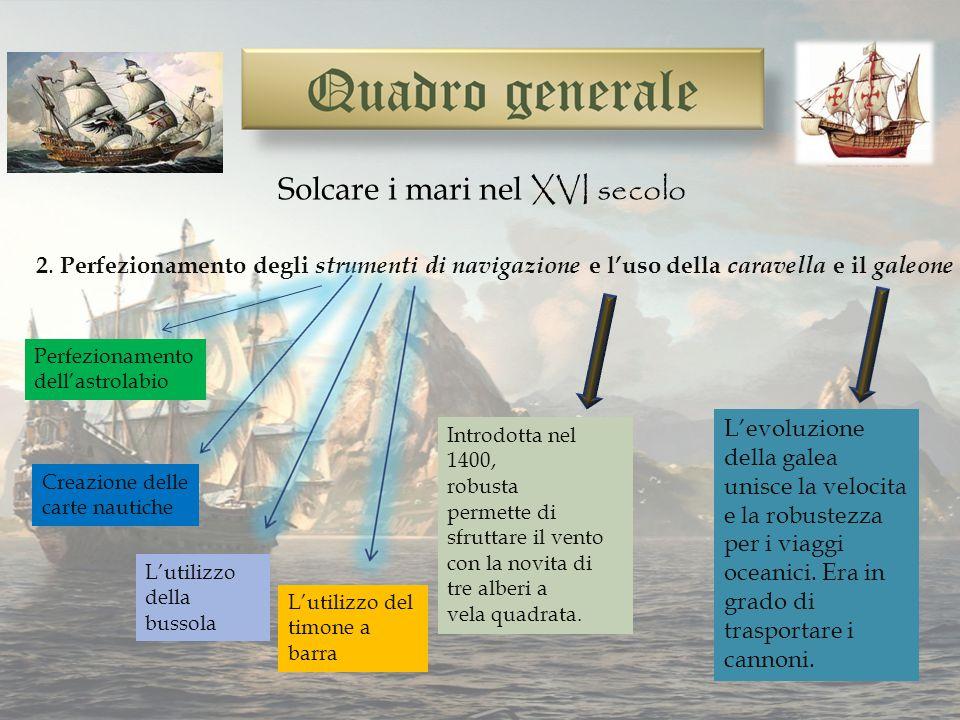 Solcare i mari nel XVI secolo