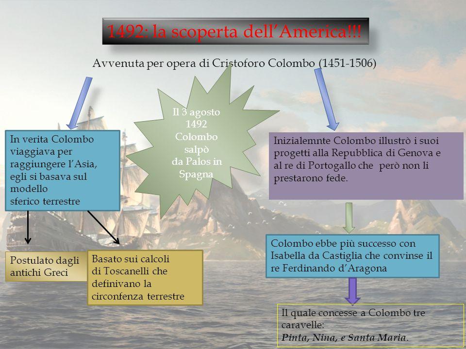 Il 3 agosto 1492 Colombo salpò