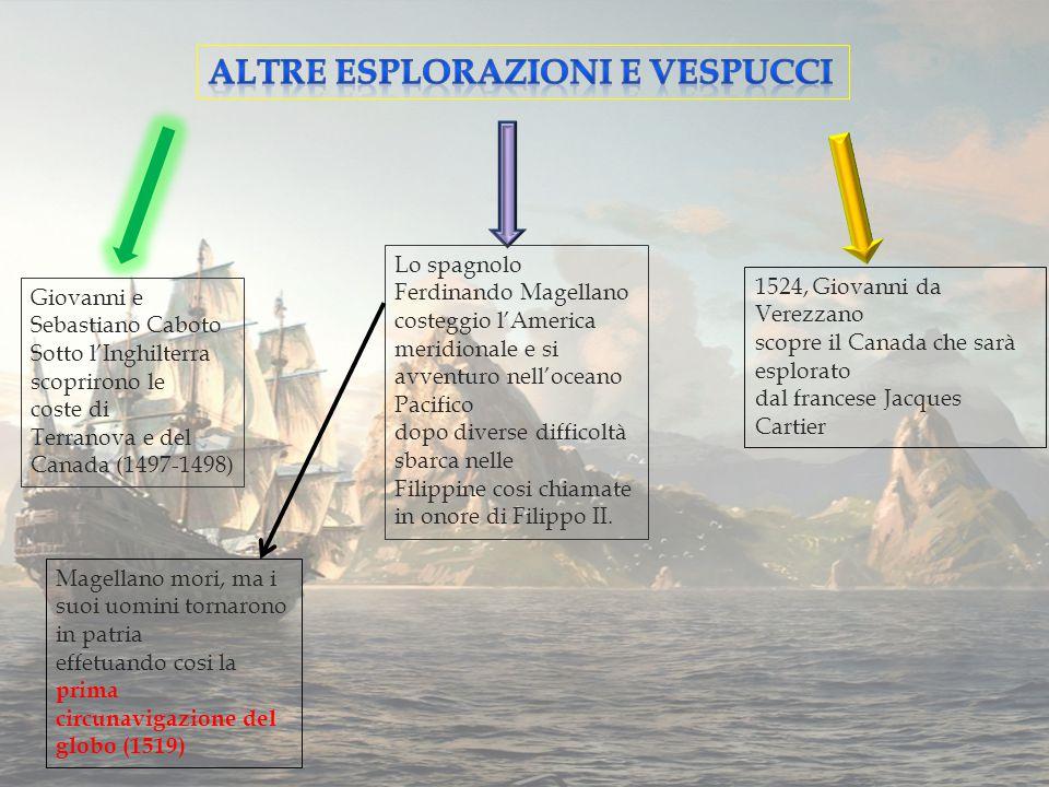 Altre esplorazioni e Vespucci