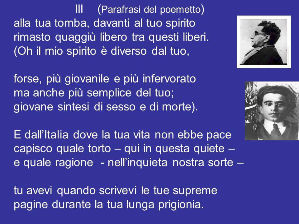 III (Parafrasi del poemetto)