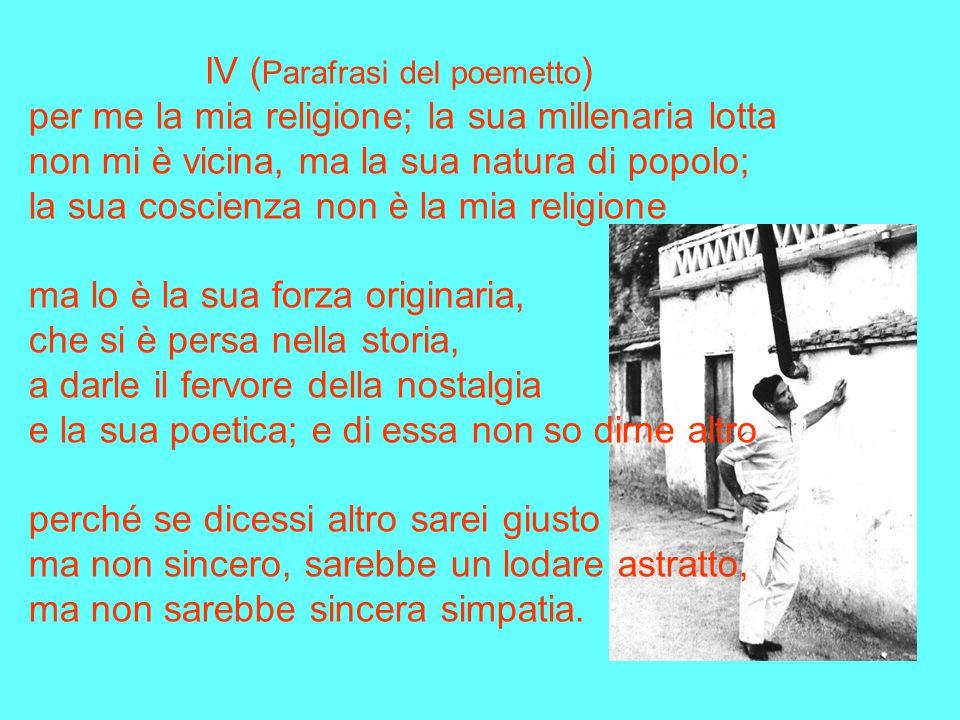 IV (Parafrasi del poemetto)
