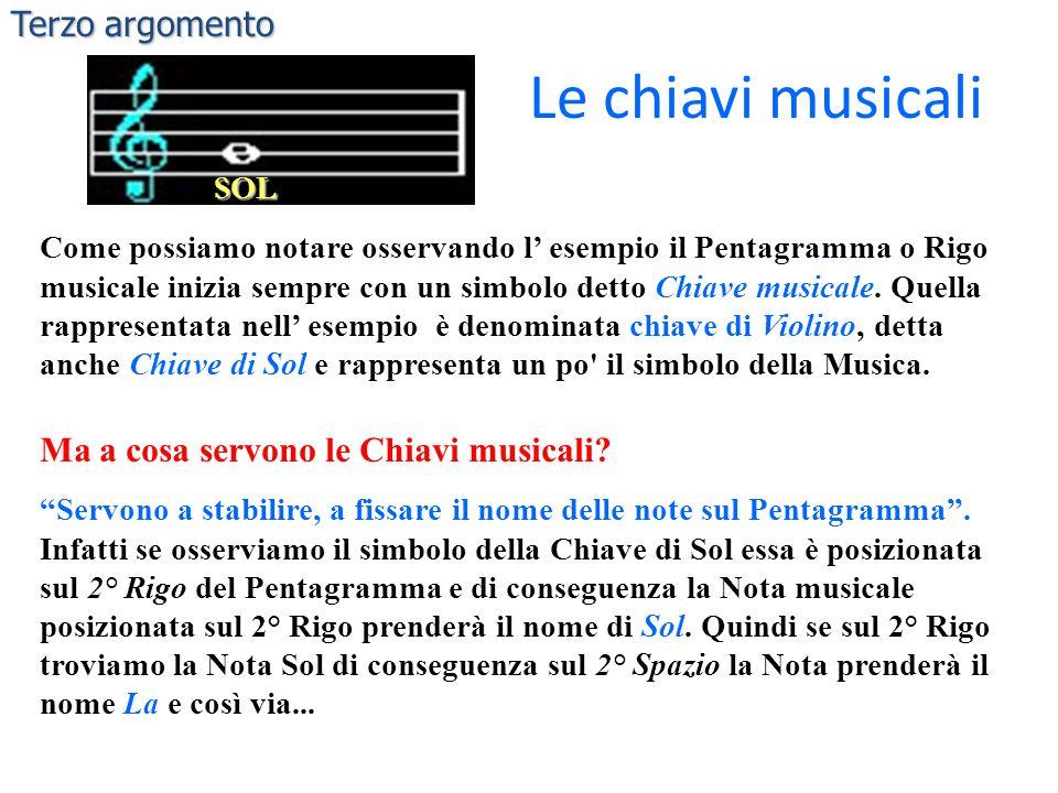 Le chiavi musicali Terzo argomento