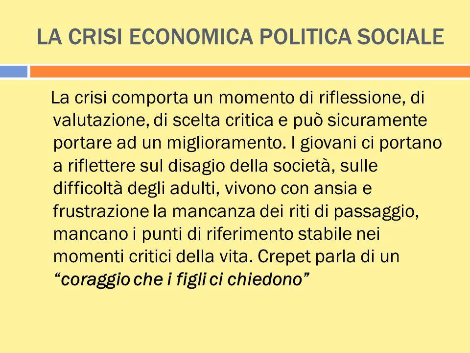 LA CRISI ECONOMICA POLITICA SOCIALE