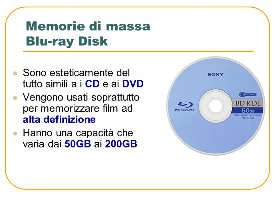 Memorie di massa Blu-ray Disk