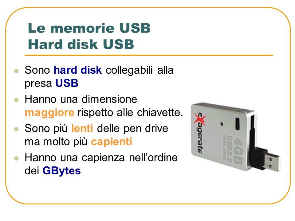 Le memorie USB Hard disk USB