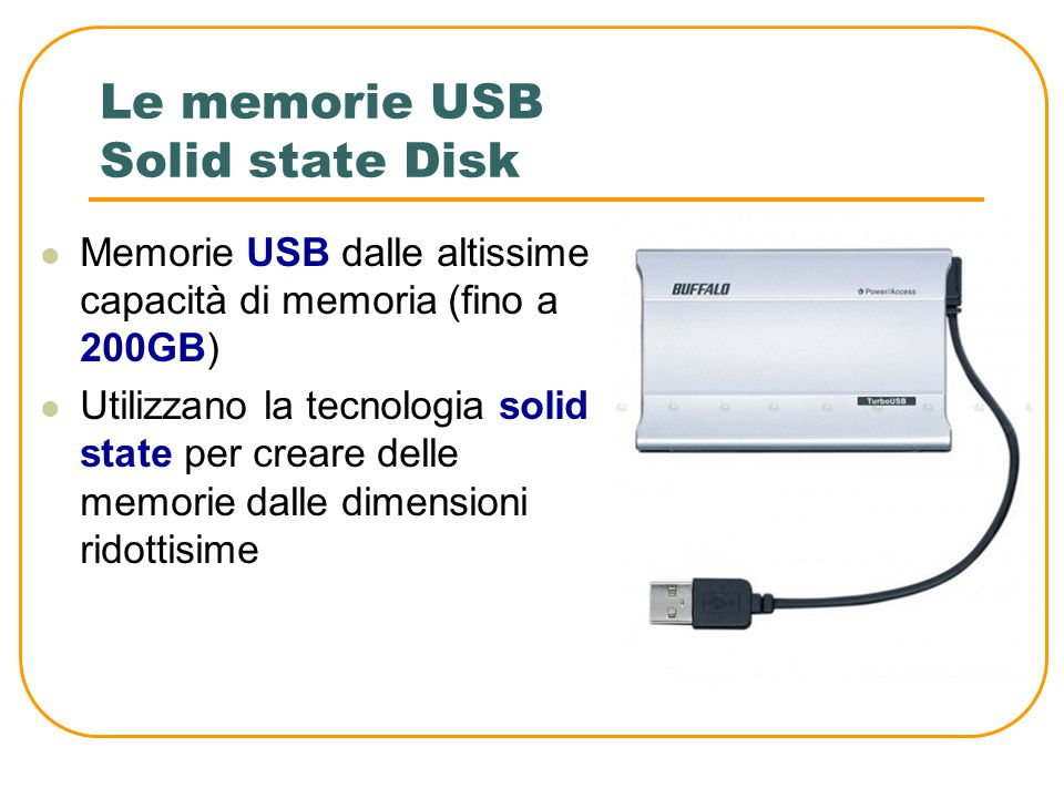 Le memorie USB Solid state Disk