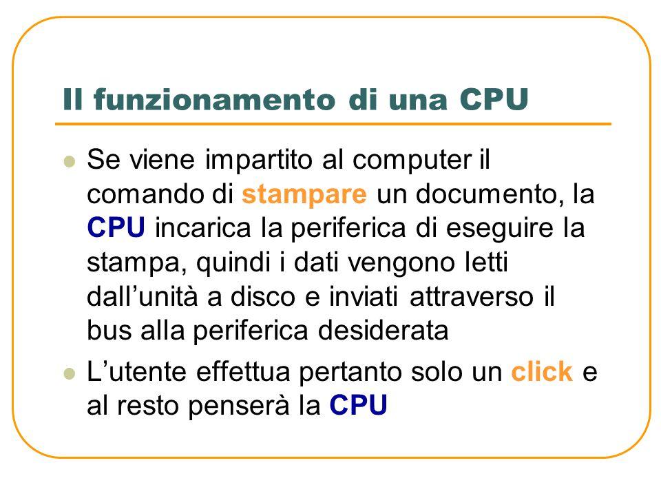 Il funzionamento di una CPU