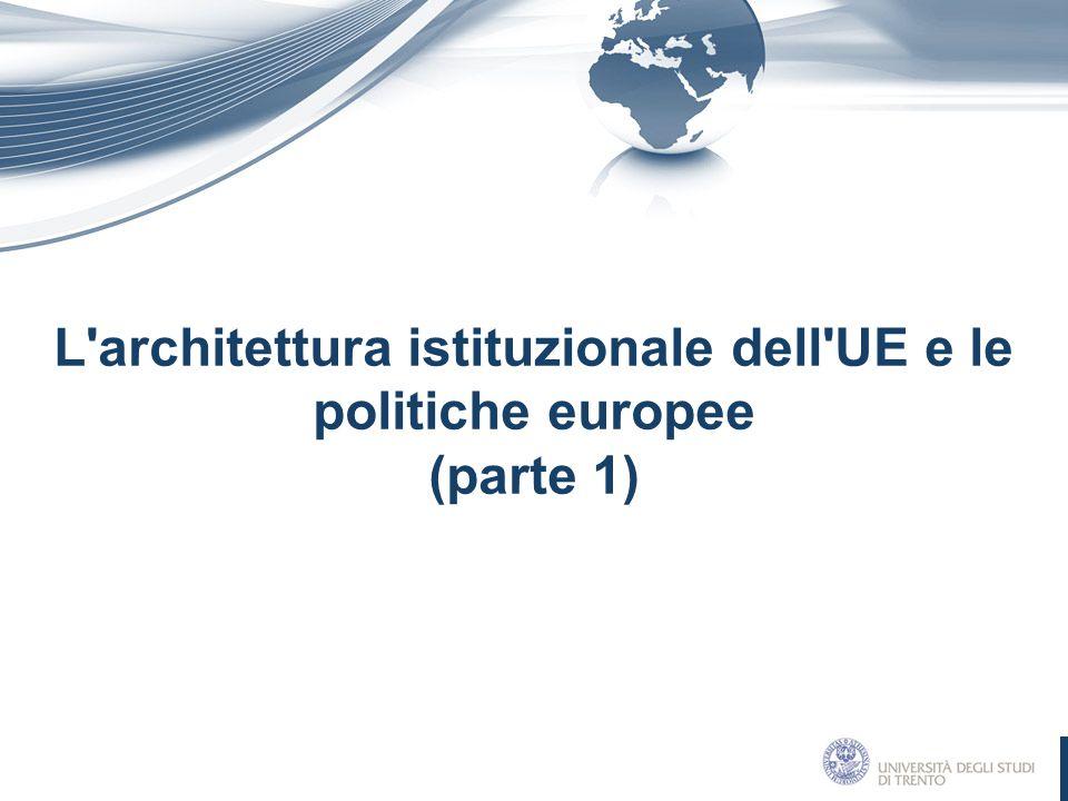 L architettura istituzionale dell UE e le politiche europee