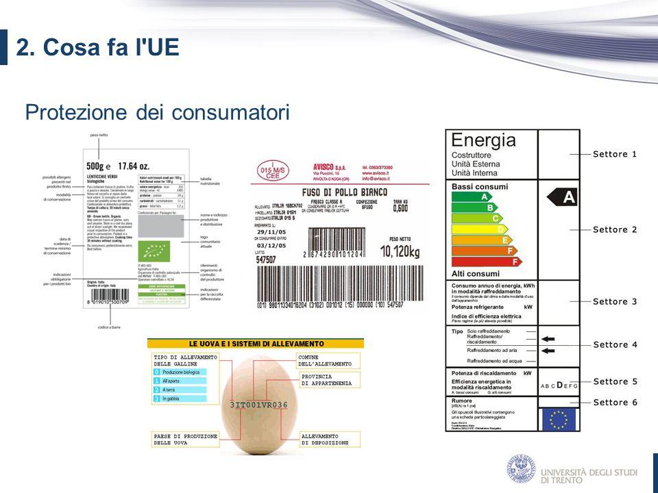2. Cosa fa l UE Protezione dei consumatori