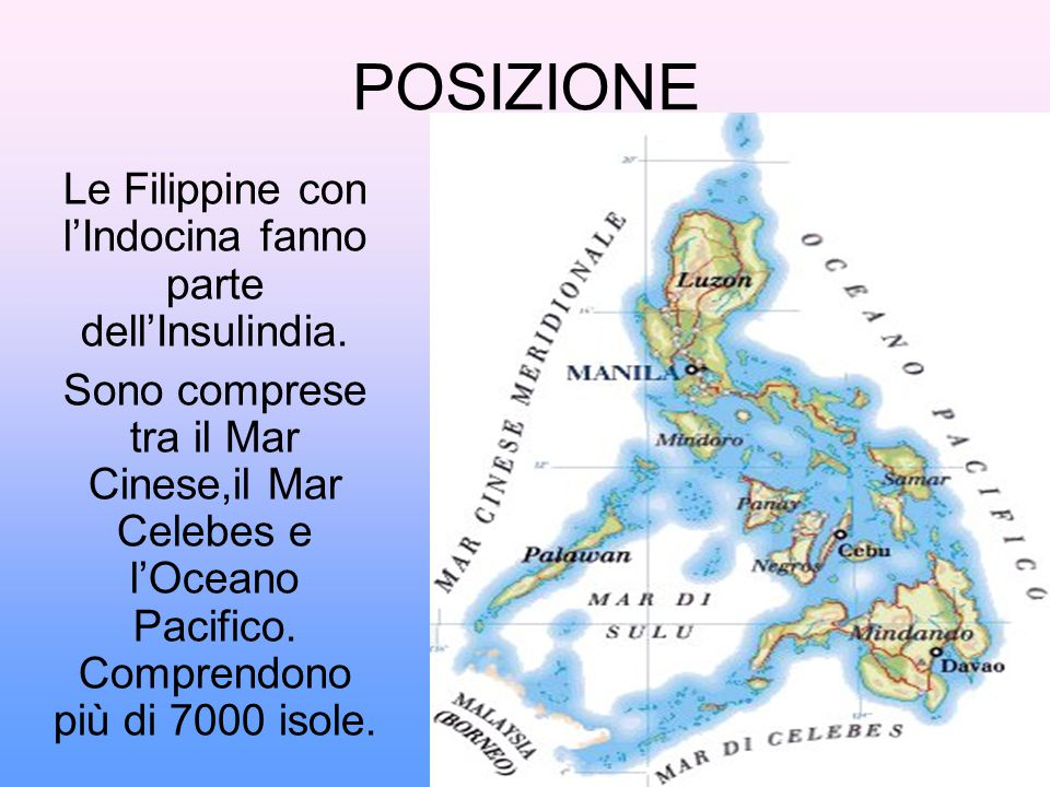 Le Filippine con l'Indocina fanno parte dell'Insulindia.
