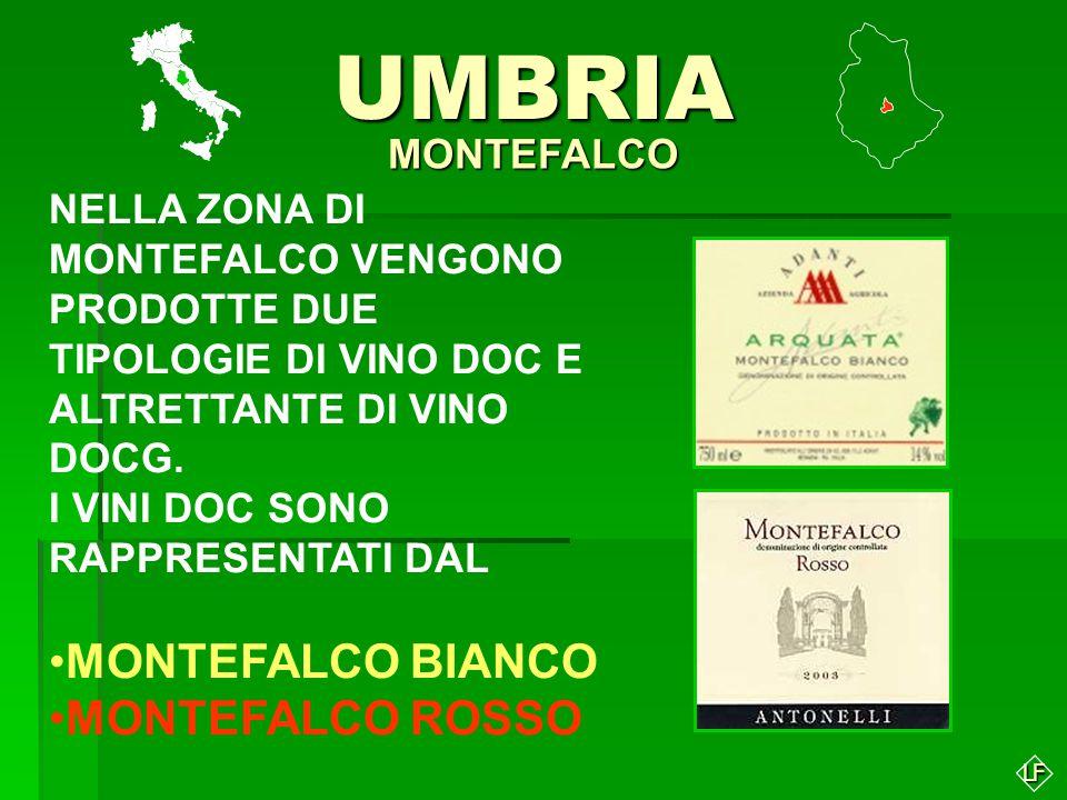 UMBRIA MONTEFALCO BIANCO MONTEFALCO ROSSO MONTEFALCO
