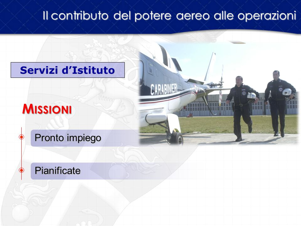 Missioni Il contributo del potere aereo alle operazioni