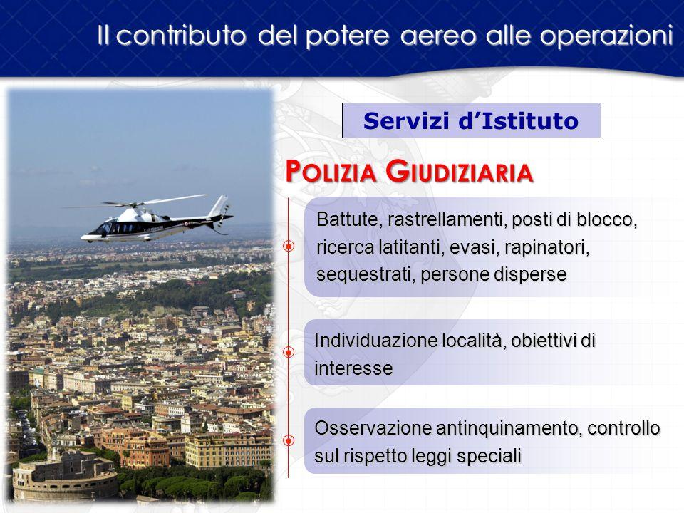Polizia Giudiziaria Il contributo del potere aereo alle operazioni