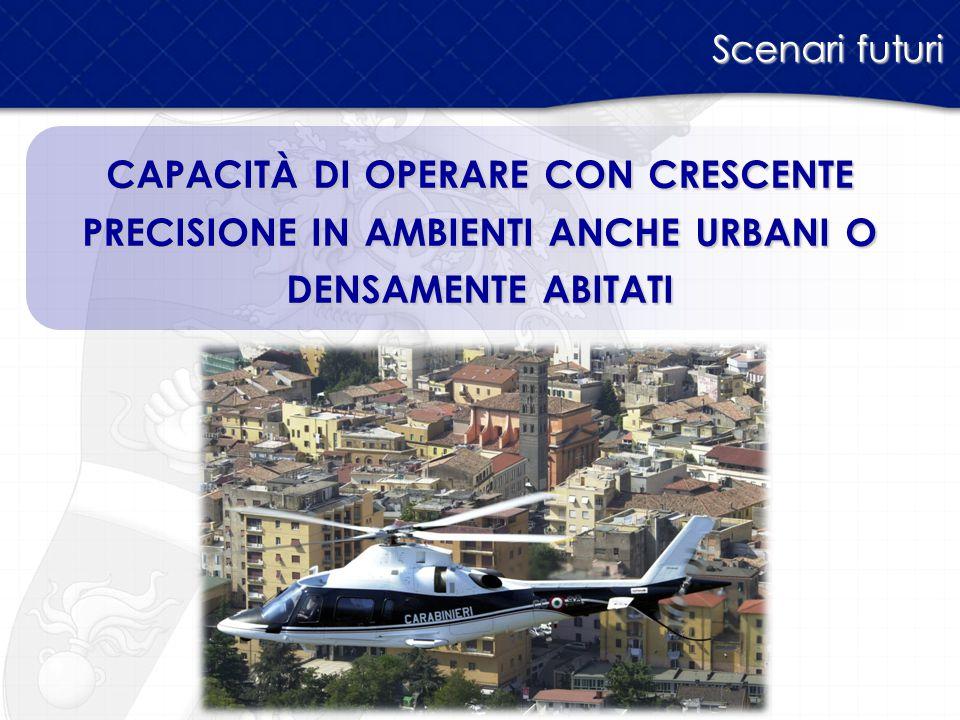 Scenari futuri capacità di operare con crescente precisione in ambienti anche urbani o densamente abitati.