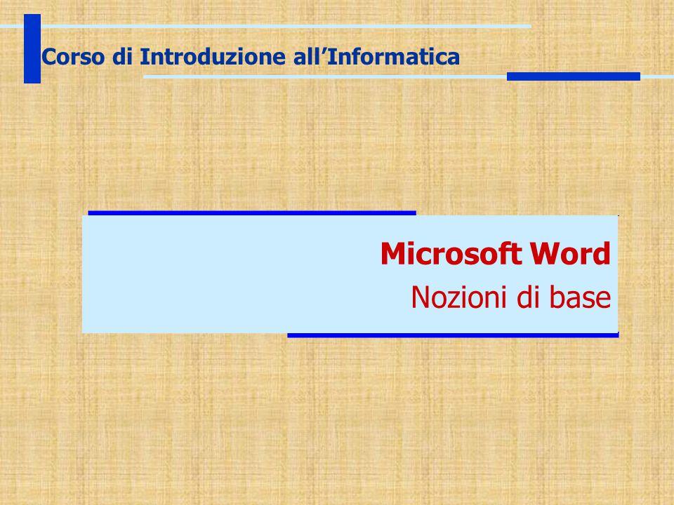 Corso di Introduzione all'Informatica