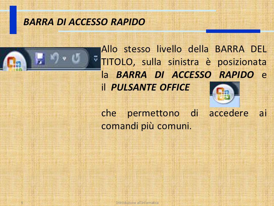 BARRA DI ACCESSO RAPIDO
