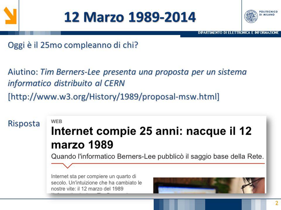 12 Marzo 1989-2014 Oggi è il 25mo compleanno di chi