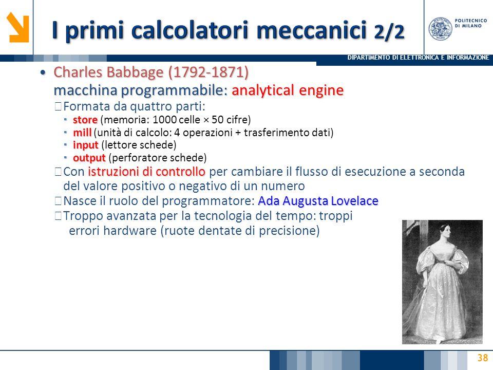 I primi calcolatori meccanici 2/2