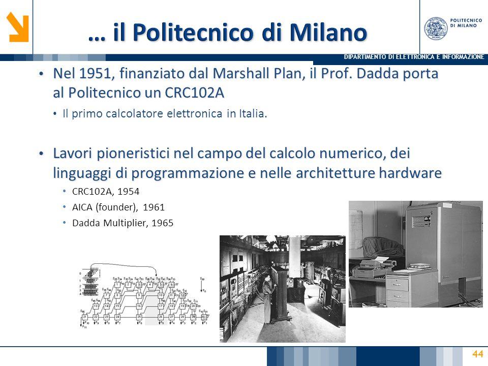… il Politecnico di Milano