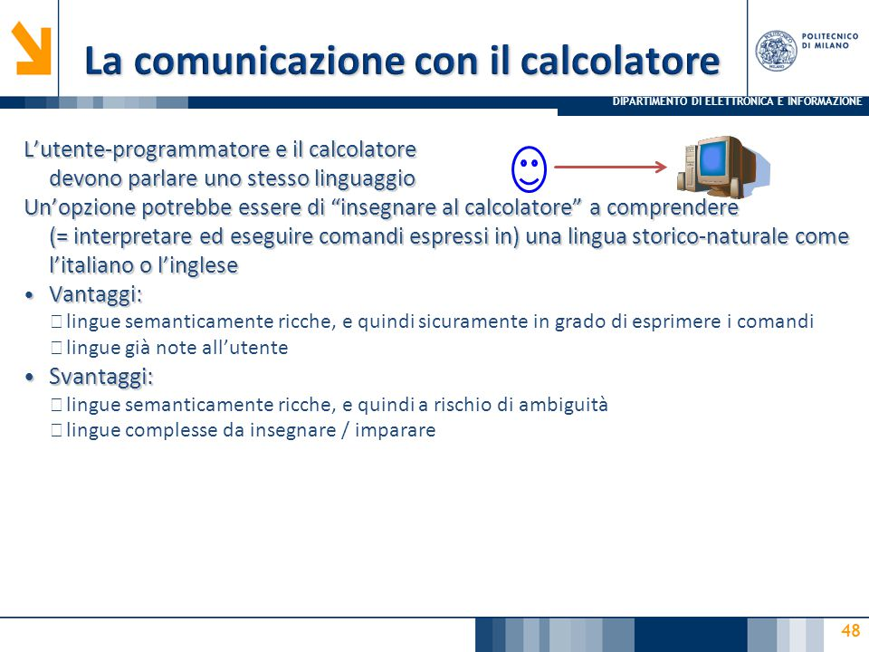La comunicazione con il calcolatore