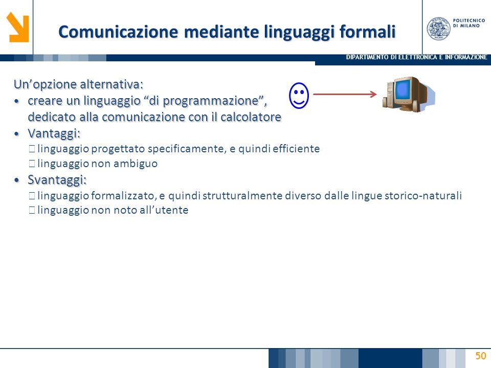 Comunicazione mediante linguaggi formali