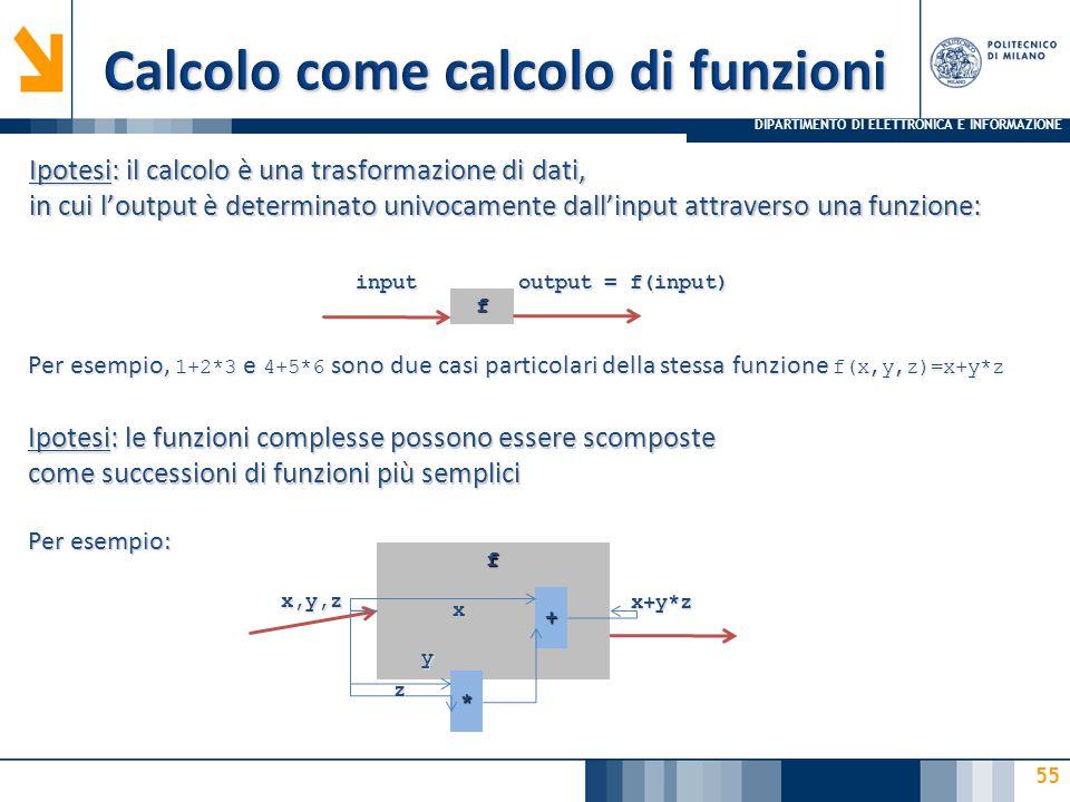 Calcolo come calcolo di funzioni