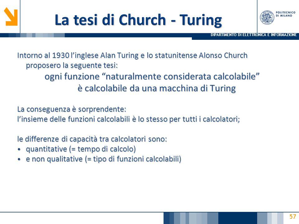 La tesi di Church - Turing