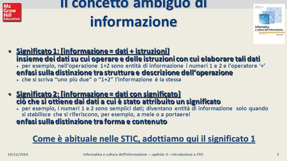 Il concetto ambiguo di informazione