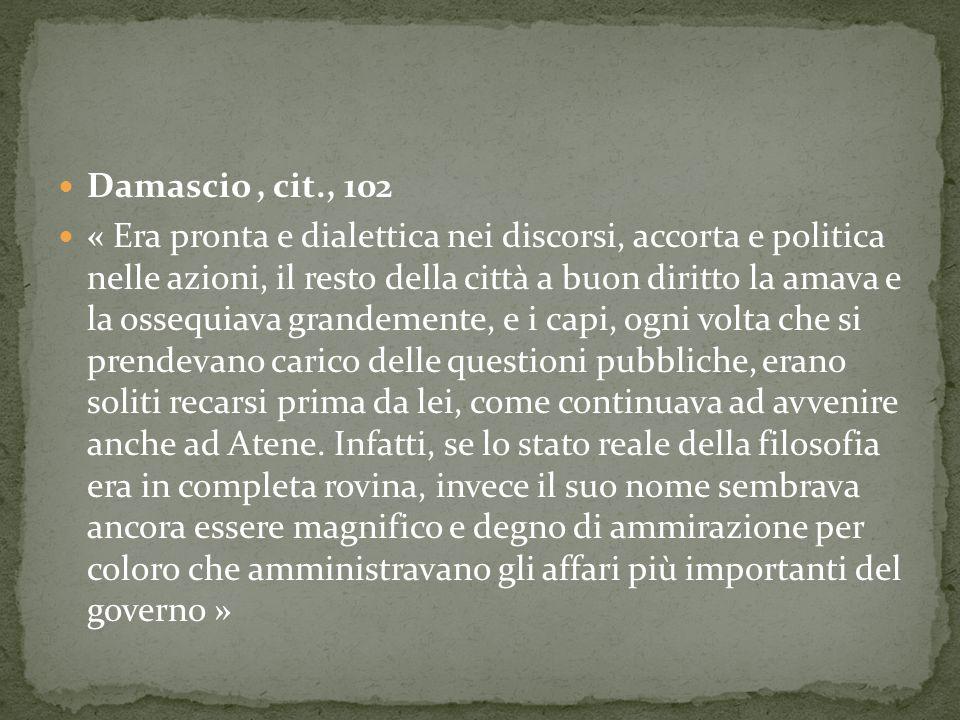 Damascio , cit., 102