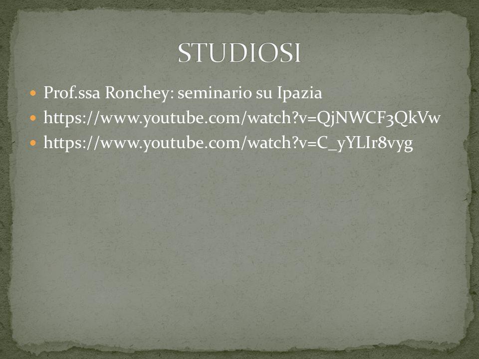 STUDIOSI Prof.ssa Ronchey: seminario su Ipazia