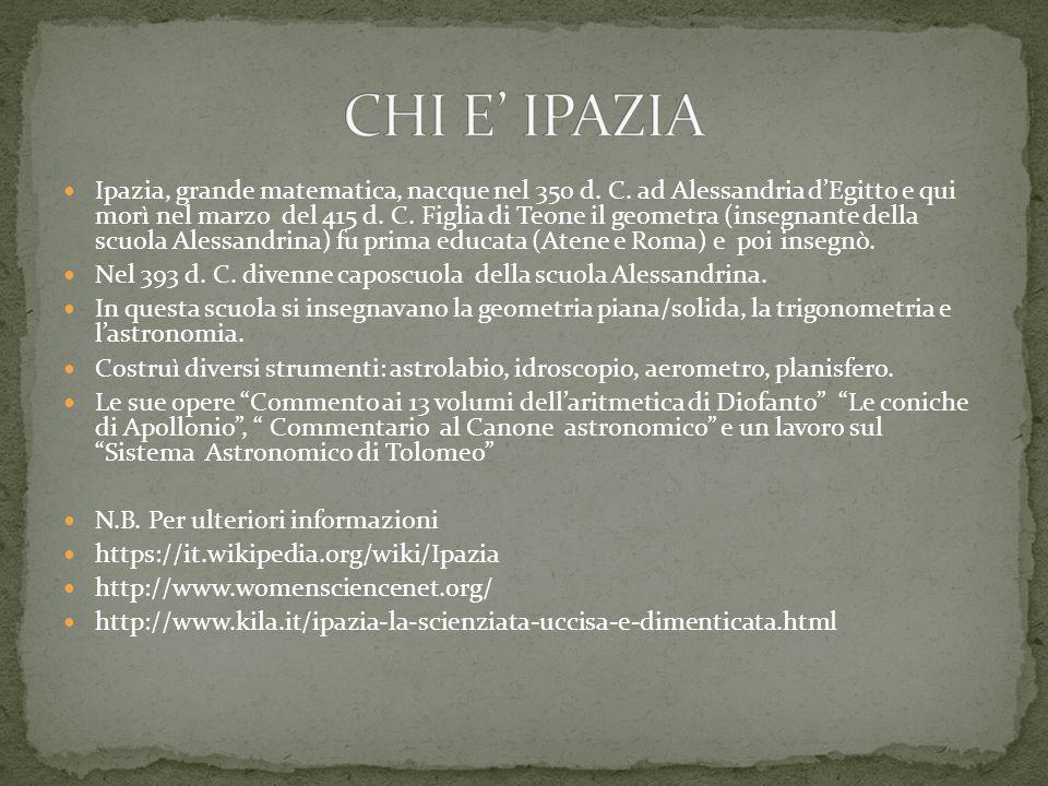 CHI E' IPAZIA