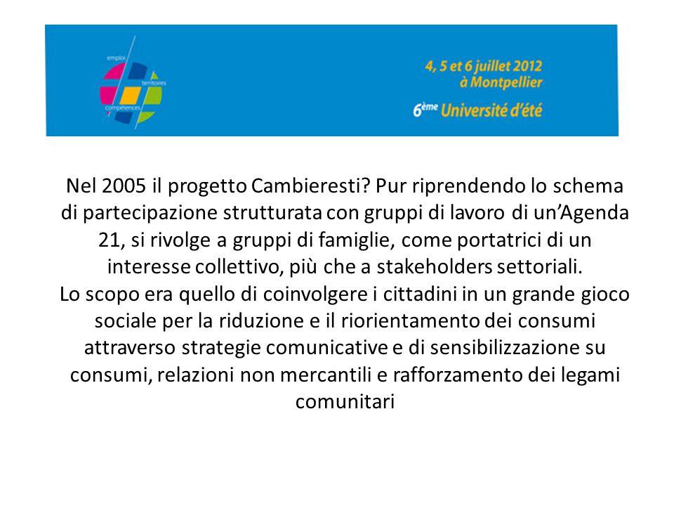 Nel 2005 il progetto Cambieresti