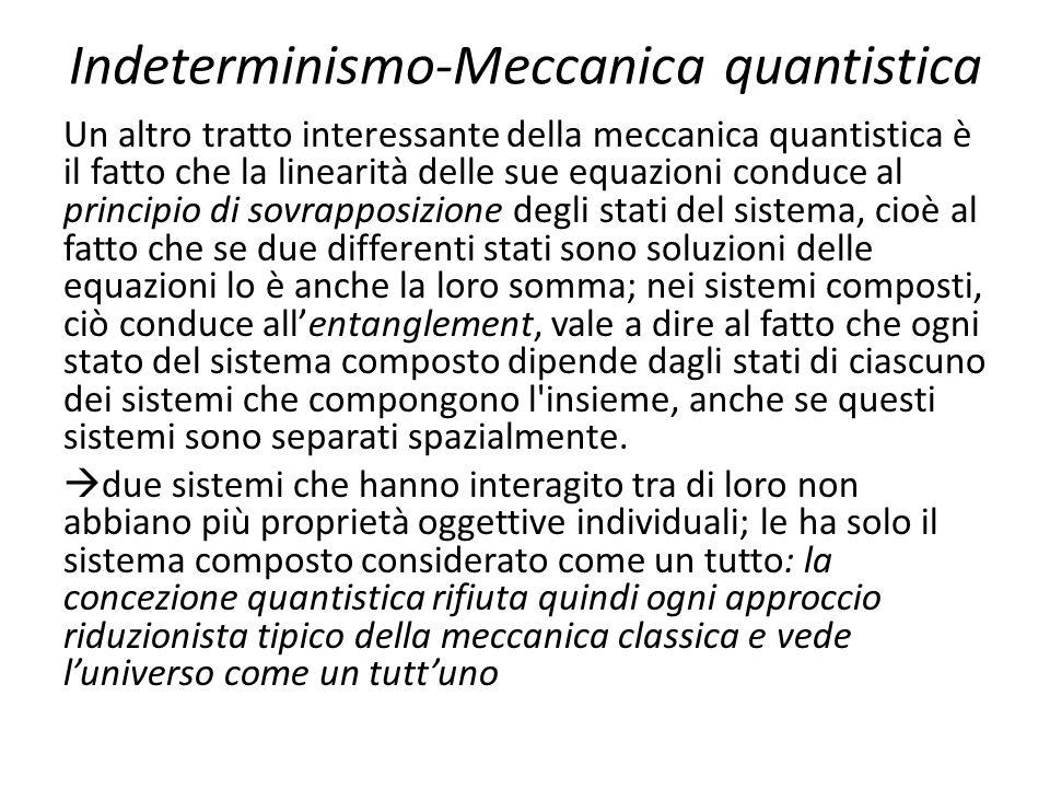 Indeterminismo-Meccanica quantistica