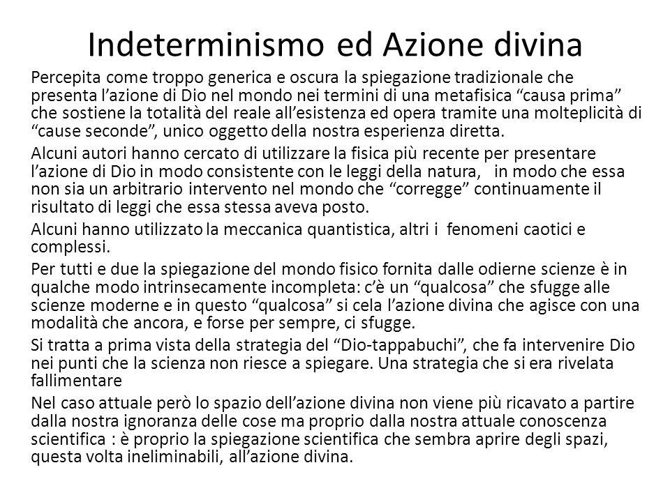 Indeterminismo ed Azione divina